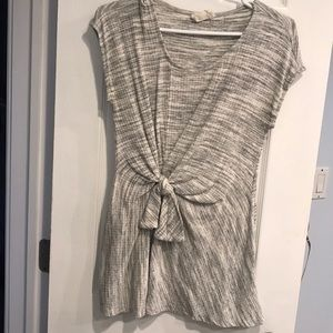 Anthropologie gray knotted tunic